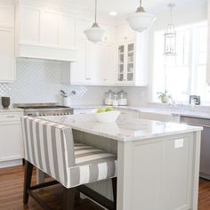 This white on white kitchen in Orem UT is brightening our Monday! : Tiek Built Homes