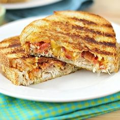 Chicken Bacon Panini with Spicy Chipotle Mayo