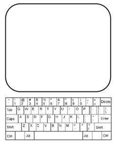 """Use for word work - Laminate copies. Use dry erase marker to write word on screen, then pretend """"type"""" it (keyboarding practice, too). Spelling Practice, Grade Spelling, Spelling Activities, Literacy Activities, Listening Activities, Teaching Writing, Teaching Tools, Teaching Resources, Word Study"""