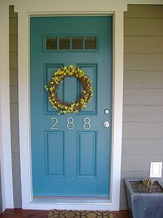 fun door and house numbers