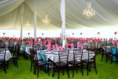 Tent liner and chiavari chairs used at the wedding of the newlyweds Mr. & Mrs. Guthmiller! Contact 605-332-4222 for more information or come view other items in our showroom at 3501 S. Minnesota Avenue.