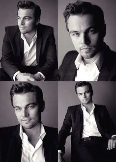 I've always thought that Leonardo DiCaprio got more handsome with age. But this cluster of shots right here- this may be a younger Leo. He looks fantastic. Business Portrait, Leonardo Dicaprio, Shooting Studio, Famous Faces, Gorgeous Men, Pretty People, Movie Stars, Actors & Actresses, Sexy Men