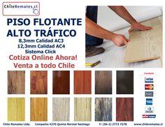 Cotiza Online Piso Flotante Alto Tráfico.  Cotiza en www.chileremates.cl