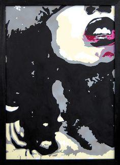 "Saatchi Online Artist Mike Ferrari; Painting, ""Lips"" #art"