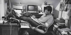 Stephen King working on his writing.