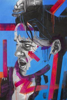 "Saatchi Art Artist Kos Cos; Painting, ""Liza In Blue"" #art"