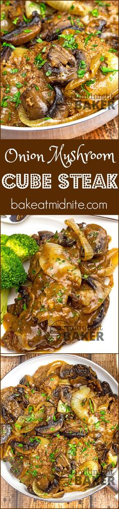 Seared mushrooms and onions give this skillet cube steak din.-Seared mushrooms and onions give this skillet cube steak dinner terrific flavor. Seared mushrooms and onions give this skillet cube steak dinner terrific flavor. Meat Recipes, Dinner Recipes, Cooking Recipes, Healthy Recipes, Recipies, Oven Recipes, Sirloin Recipes, Kabob Recipes, Fondue Recipes