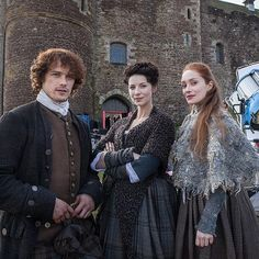 Jamie, Claire, and Geillis