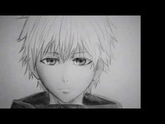 How to draw an Anime face/ Como dibujar una cara Anime (Kaneki from Toky...