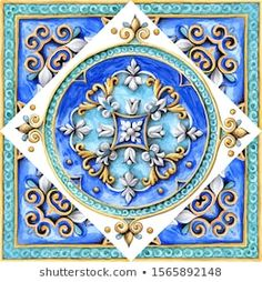 Illustrazione stock 1565892148 a tema Italian Majolica Decoration On Ceramic Tiles Classic House Exterior, Wedding Invitation Inspiration, Decoupage Vintage, Royalty Free Images, Quilt Blocks, Zentangle, Create Yourself, Coasters, Italian Pottery