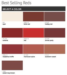 Best Ing Por Shades Of Red Paint Colors From Benjamin Moore