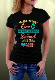 Social Worker Two Hands - Premium quality tees, tanks and hoodies from BadBananas. Flat rate shipping worldwide.