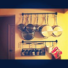 Pots and Pans on the IKEA Fintorp Rail