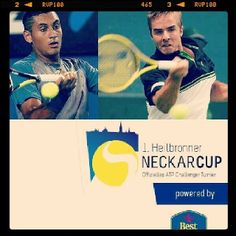 My first opponent is austrian tennis player Nick Kyrgios!!! Keep fingers crossed for me.