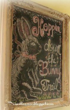 Priscillas: Hoppin' Down The Bunny Trail Chalkboard
