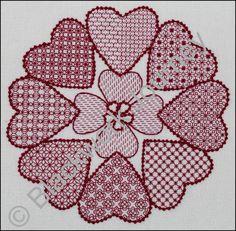 CH0323 Love 360 Blackwork design using eight diaper patterns www.blackworkjourney.co.uk