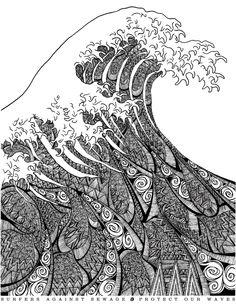 """Hokusai Wave""  by Freddie Denton"