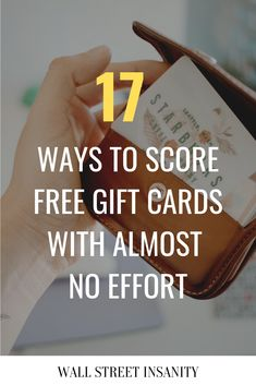 17 Ways To Score Free Gift Cards With Almost No Effort - There are tons of comp. - 17 Ways To Score Free Gift Cards With Almost No Effort – There are tons of companies that'll g - Food Gift Cards, Get Gift Cards, Gift Card Basket, Gift Card Boxes, Wall Street, Gift Card Bouquet, Gift Card Presentation, Best Friend Birthday Cards, Effort