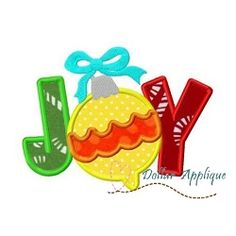 Joy Applique - 3 Sizes! | What's New | Machine Embroidery Designs | SWAKembroidery.com Dollar Applique