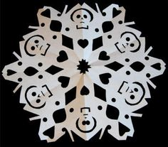 These are so fun :) I made skeleton and bat snowflakes for an alternative christmas-esque party at a friend's house. ^_^