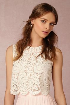 Cleo Top from @BHLDN w/ Amora skirt, Ivory