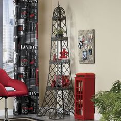 3-Shelf Display, Eiffel Tower from Seventh Avenue - I'd love this for either the classroom or in my home!