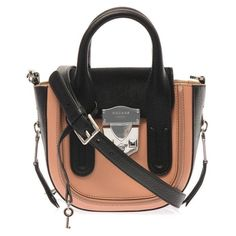 """FINAL PRICE✨HP✨Rochas  Lou crossbody bag Two top handles, adjustable detachable shoulder strap Nude-pink smooth leather front and back panels, raised stripe edge Silver-tone metal zip-around base and sides Black calf-hair top flap, logo-engraved silver-tone metal push-lock fastening. cross body bag. New w/out tags. Comes with original dust bag. All """"FINAL SALE"""" items are at its final discount. I will have to respectfully decline all offers. Thank you for looking Rochas Bags"""