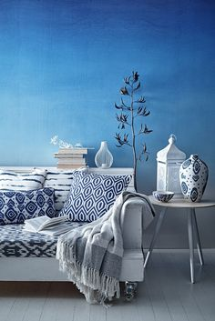 234 best blue room ideas images house decorations living room rh pinterest com all blue bedroom blue room all this love