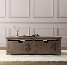 I want to make this!  DIY Furniture Plan from Ana-White.com  How to build a coffee table that hides a toy box! Clean up your living room in seconds with this clever coffee table with toy box trundle.