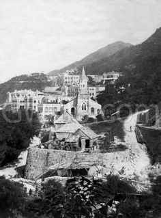 c.1904 View of Union Church and east along Kennedy Road | Gwulo: Old Hong Kong
