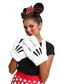 Minnie Mouse costume kit with headband ears and stuffed plush gloves. Cute Costumes, Disney Costumes, Couple Halloween Costumes, Costume Ideas, Disfraz Minnie Mouse, Disney Minnie Mouse Ears, Toddler Makeup, Kids Makeup, Makeup Ideas