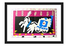 View L'enterrement de Pierrot, aus: Jazz By Henri Matisse; color pochoir on Arches paper; Access more artwork lots and estimated & realized auction prices on MutualArt. Henri Matisse, Matisse Kunst, Matisse Art, Pierrot, Jazz, Pablo Picasso, Funeral, Matisse Cutouts, Franz Marc