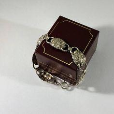 Armband Silber 800 Blumen Nostalgie Vintage SA353