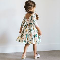 A whole lot of love-when your little daughter looks more prettier in this awesome floral dress! Definitely, I would be admiring my little daughter the whole day.