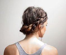 A 2 minute take on the Milkmaid Braid #hair #tutorial #braided #easyhair