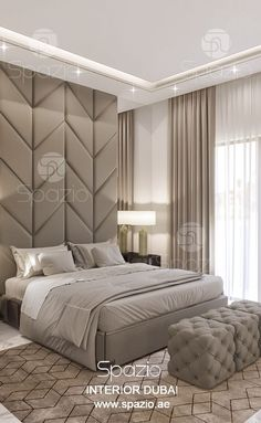 Bedroom interior design in Dubai. Spazio interior company in Dubai creates creative design solutions in modern style. Order interior design and decor for your bedroom in Dubai. Visit our web site to find out the price ($) and get more design ideas and inspiration.