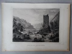 Meiringen Bern Schweiz Ansicht Landschaft - Fesca Rohbock - Stahlstich - 1861