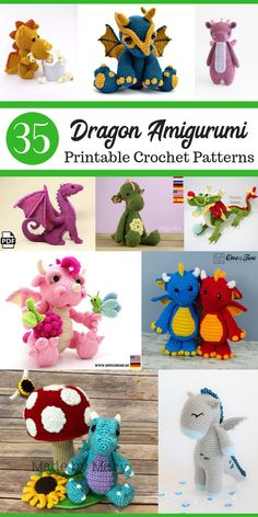 Crochet amigurumi 613334042983450556 - The dragon crochet patterns are so cute! Amigurumi dragons would make great handmade gift ideas for kids! Crochet Dragon Amigurumi Patterns Source by wackenheimcindy Crochet Dragon Pattern, Crochet Amigurumi Free Patterns, Crochet Animal Patterns, Stuffed Animal Patterns, Crochet Animals, Kids Crochet, Crochet Crafts, Crochet Dolls, Crochet Projects