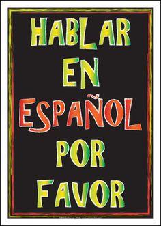 HABLAR EN ESPAÑOL POR FAVOR POSTER