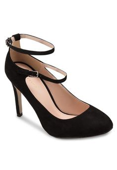 6c4c45a2194 Ankle Strap Mary Jane Heels from ZALORA in black 1 Black Mary Jane Heels