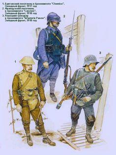 Британские, французские и немецкие бронежилеты времен 1-й мировой войны - Ron Volstad
