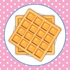 A waffle dish cute background Free Vecto. Mund Clipart, Cute Backgrounds, Displaying Collections, Vector Free, Dishes, Breakfast, Vector Background, Juices, Style Fashion