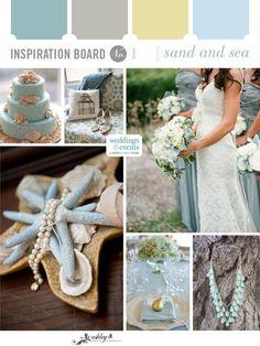 Inspiration Board: Sand and Sea | Elegance & Enchantment