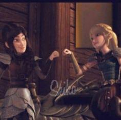 Best Friends :-D  #Astrid #heather #rasetotheedge