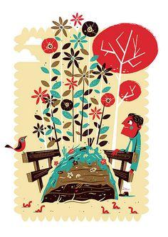Migros Magazine editorial   Illustrator: Christian Lindemann - http://www.lindedesign.de