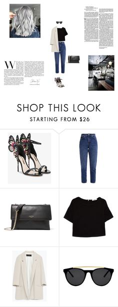 """Café"" by kinga167 on Polyvore featuring Sophia Webster, Lanvin, MANGO, Zara and Smoke x Mirrors"