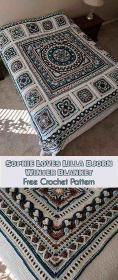 Sophie Loves Lilla Bjorn Winter Blanket [Free Crochet Pattern]