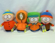 "SOUTH PARK 10"" Plush Doll Lot - KENNY - STAN - KYLE - CARTMAN - 2008 Nanco Toy #Nanco"