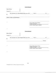 Sample Printable Affidavit Of Memorandum For Purchase And Sale