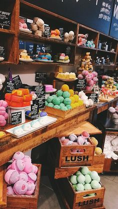 This British company, Lush, DOESN'T TEST their products ON ANIMALS. They use only natural components to make various products.